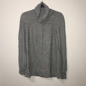 Grey Cowl Neck Warm Sweater Pullover Medium